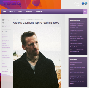 link to TDSIG blog post on top ten teaching books by Anthony Gaughan